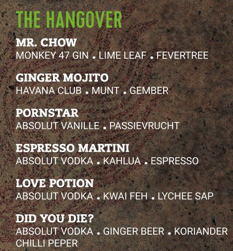 The Hangover Cocktails